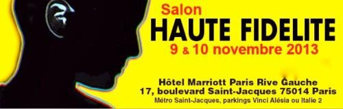 Salon Haute Fidélité 2013: les 9 et 10 novembre à Paris