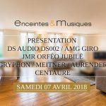 Enceintes et Musiques fait son show: les nouvelles enceintes JMR Orféo Jubilé, et le système vinyle DS Audio en présentation le samedi 7 avril à Paris