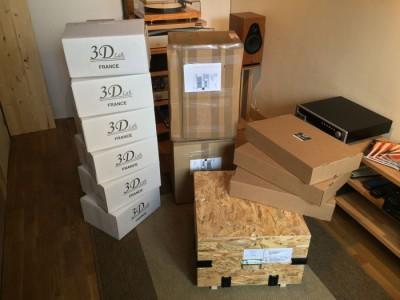 Matériels d'écoute à l'arrivée: GRYPHON Diablo 300, LEGATO, 3D Lab, ACTINOTE