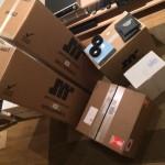 Arrivages: JMR, Grado, Audiomat, 3D Lab, cartons, électronique, acoustique, informatique, ... et on prépare activement les E&M Days