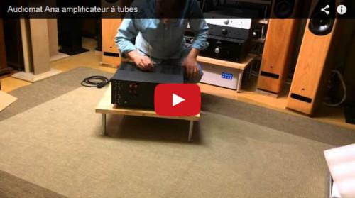 Amplificateur Audiomat Aria: déballage, vérification et mise en route d'un ampli à tubes Audiomat, en vidéo