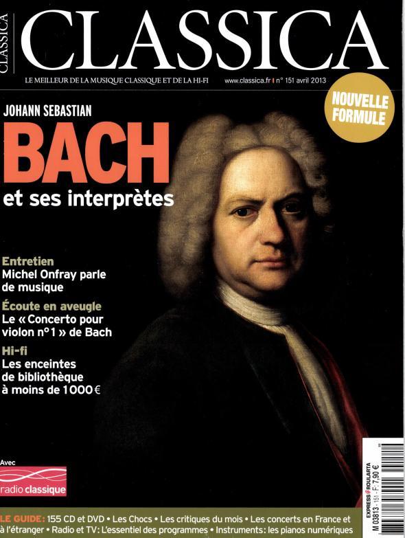 JMR Folia dans la revue Classica avril 2013