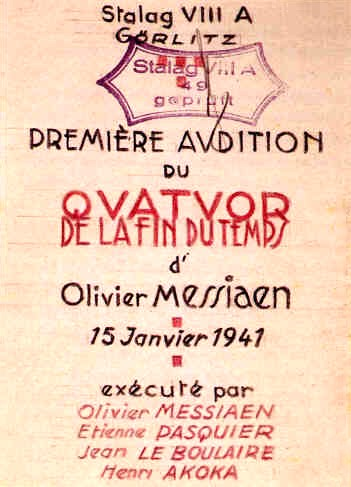 Messiaen Affiche Quatuor