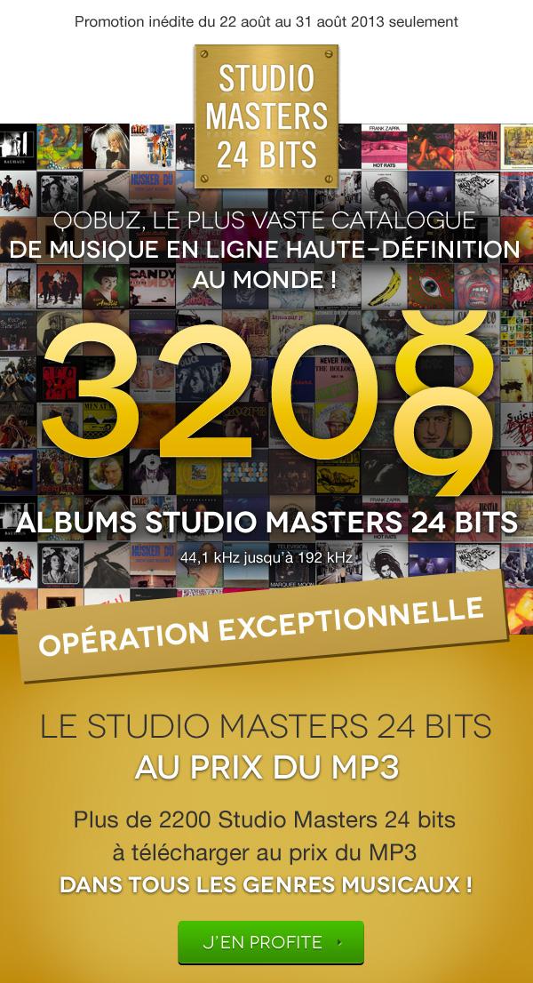 Qobuz, achat de musique en ligne: offre de qualité Studio